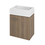 Washbasin cabinet on toilet