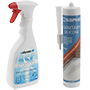 Paints, sealants, repair and cleaning agents