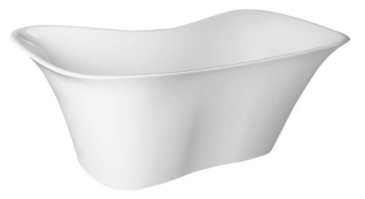 FLORA volně stojící vana litý mramor 180x80x67cm, bílá