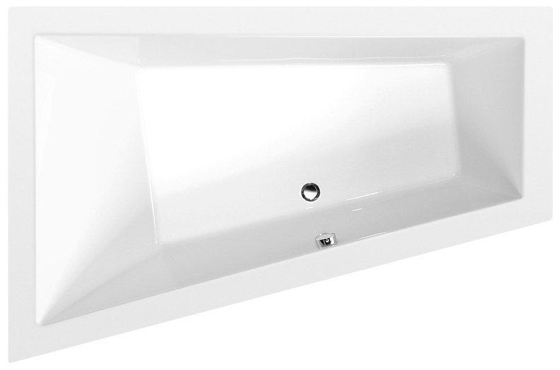 TRIANGL L asymetrická vana 180x120x50cm, bílá