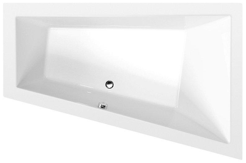TRIANGL R asymetrická vana 180x120x50cm, bílá