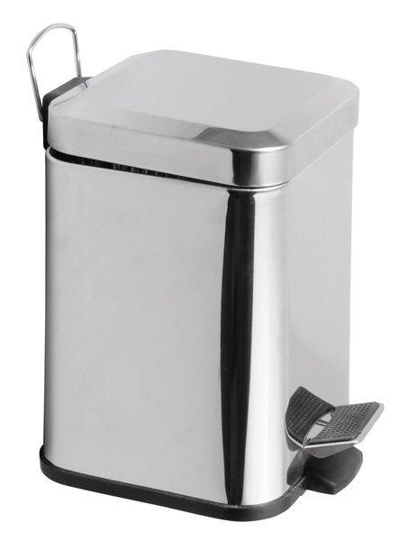 SIMPLE LINE odpadkový koš hranatý 3l, leštěný nerez