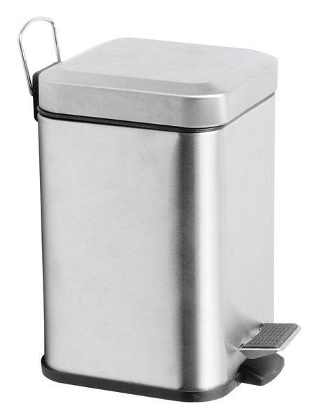 SIMPLE LINE odpadkový koš hranatý 6l, leštěný nerez