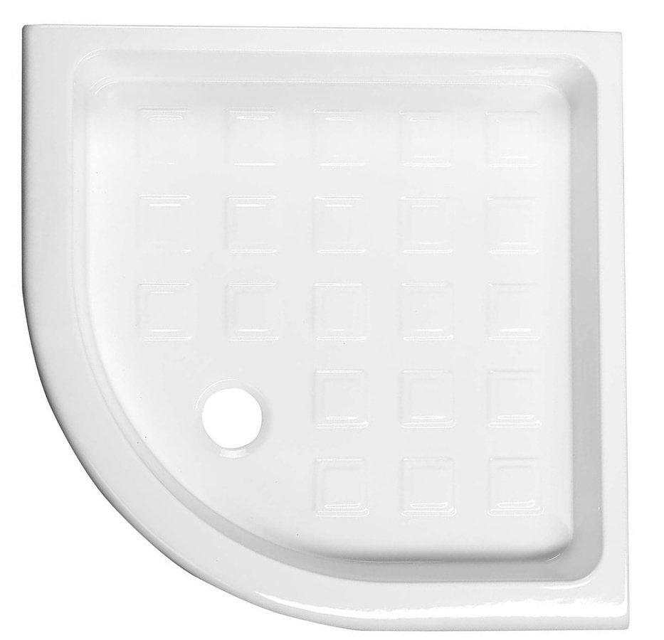 RETRO keramická sprchová vanička, čtvrtkruh 90x90x20cm, R550