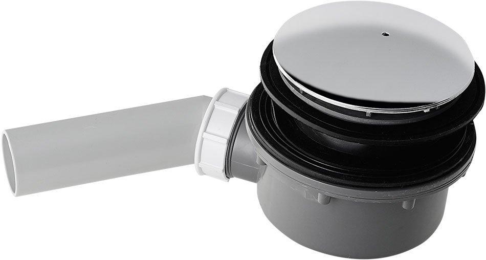 RETRO vaničkový sifon, průměr otvoru 90 mm, krytka chrom