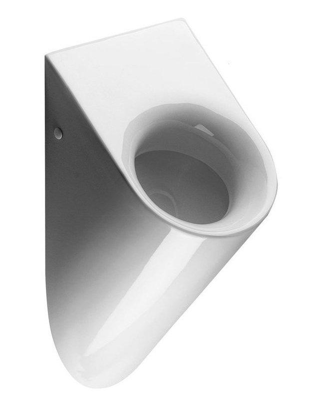 PURA urinál se zakrytým přívodem vody, 39x61x31 cm, bílá ExtraGlaze