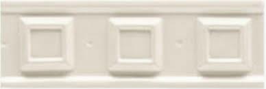 BOISERIE SQUARE Bianco Matt 6,5x20