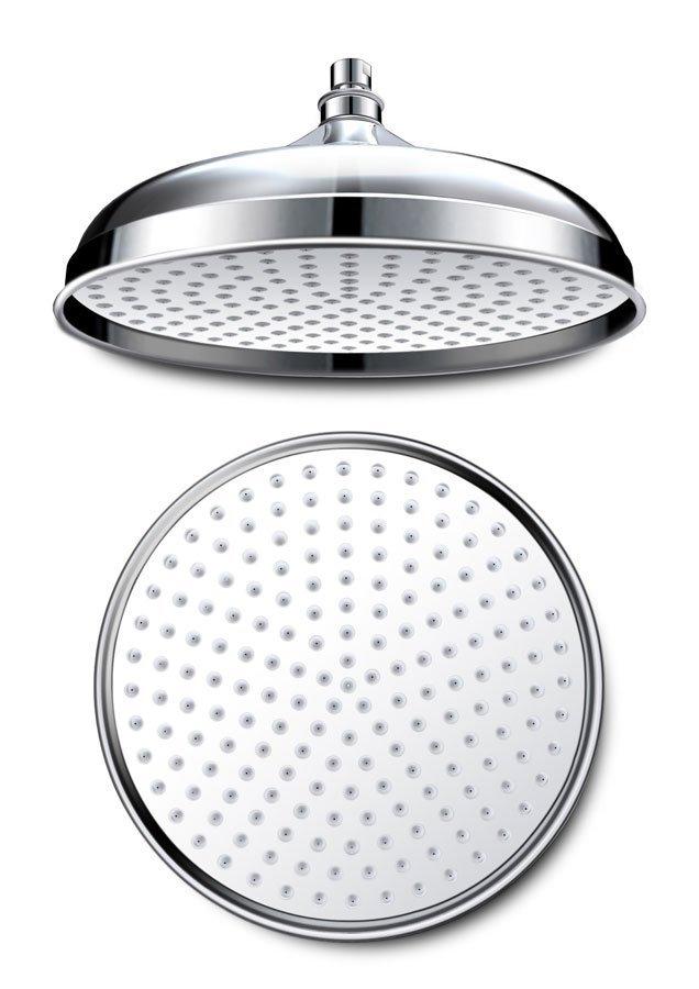 RETRO hlavová sprcha, průměr 305mm, chrom