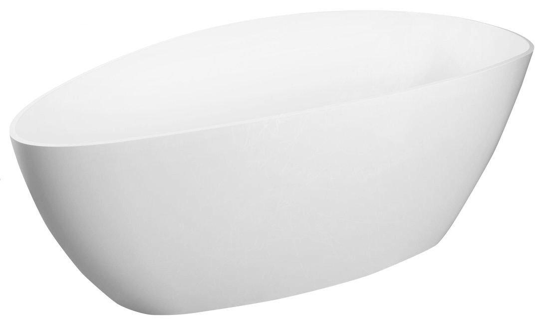 ELIPSIE vana 1570x700x560mm, litý mramor, objem 260l, bílá lesk
