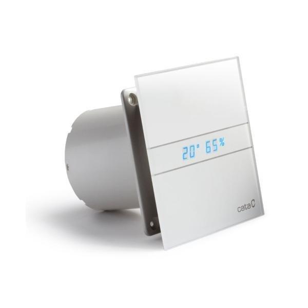 E-100 GTH koupelnový ventilátor axiální s automatem, 4W/8W, potrubí 100mm, bílá