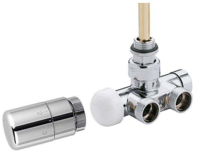 MONO ONE připojovací sada ventilů termostatická jednobodová, chrom