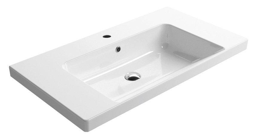 NORM keramické umyvadlo 90x18x50 cm, bílá ExtraGlaze