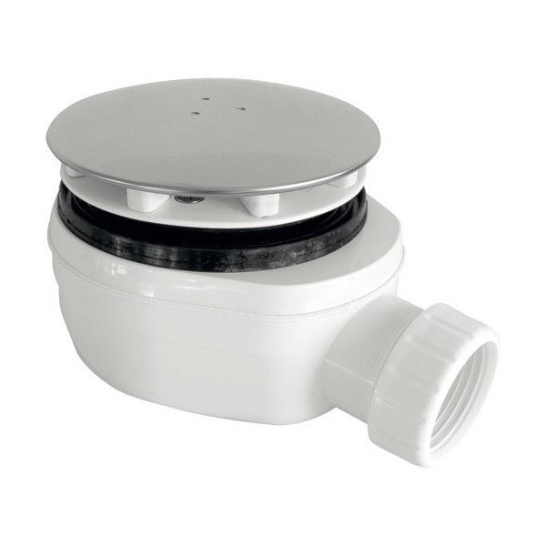 Vaničkový sifon, průměr otvoru 90 mm DN40, nízký, krytka chrom