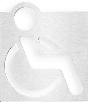 WC vozíčkář označení 120x120 mm, leštěný nerez