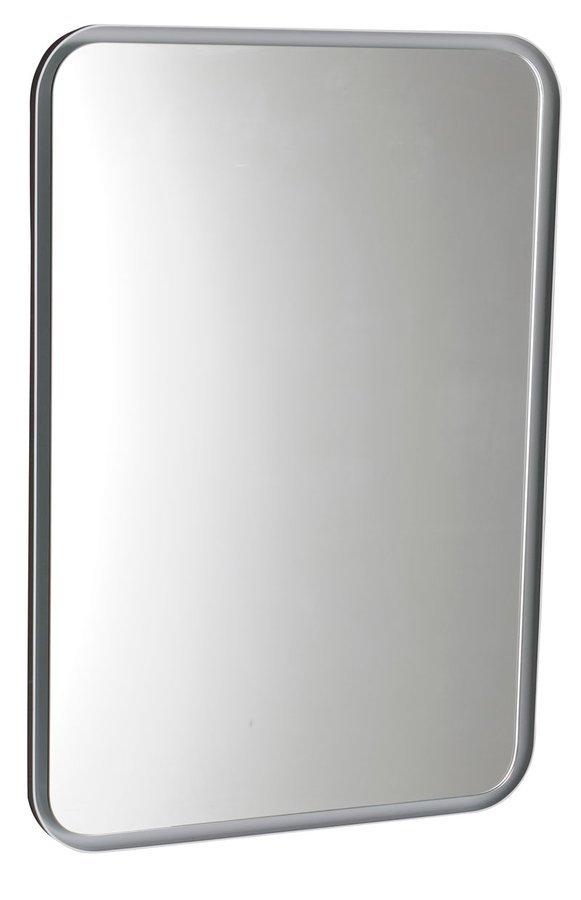 FLOAT zaoblené LED podsvícené zrcadlo v rámu 500x700mm, bílá