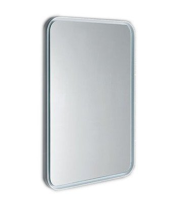 FLOAT zaoblené LED podsvícené zrcadlo v rámu 600x800mm, bílá