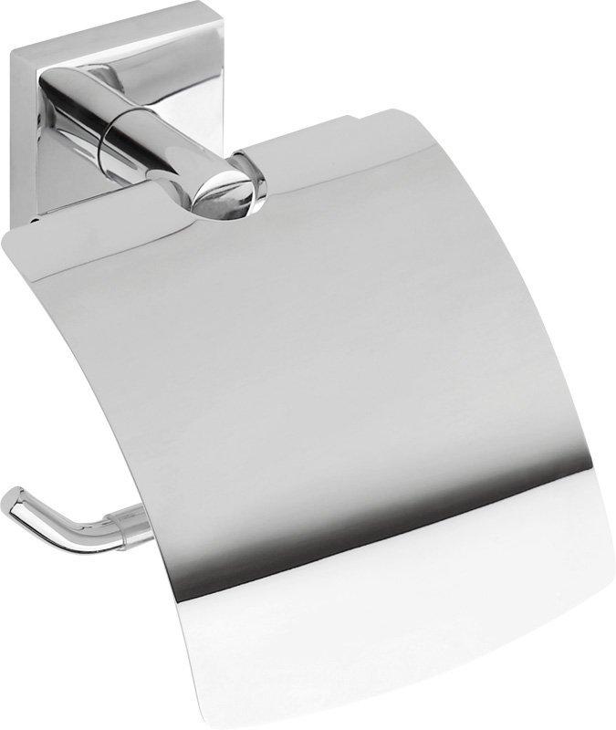 X-SQUARE držák toaletního papíru s krytem, chrom