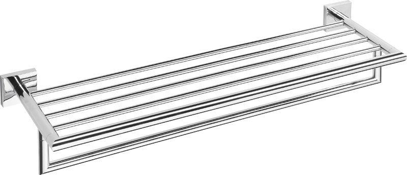 X-SQUARE polička na ručníky s hrazdou 650x110x215mm, chrom