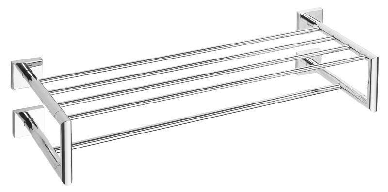 X-SQUARE polička na ručníky dvojitá s hrazdou 650x155x255mm, chrom