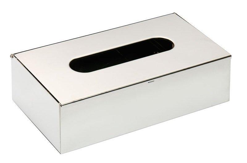 Zásobník na papírové kapesníky 250x130x75mm, broušený nerez