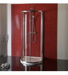 Photo: LUCIS LINE D-Shaped Shower Enclosure 900x900mm, clear glass