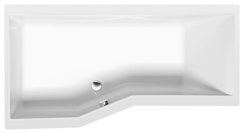 VERSYS L asymetrická vana 170x84x70x47cm, bílá
