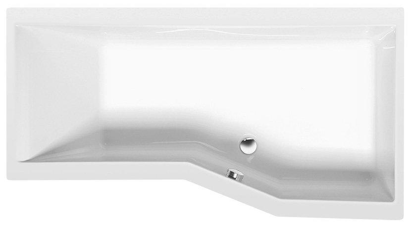 VERSYS R asymetrická vana 170x84x70x47cm, bílá