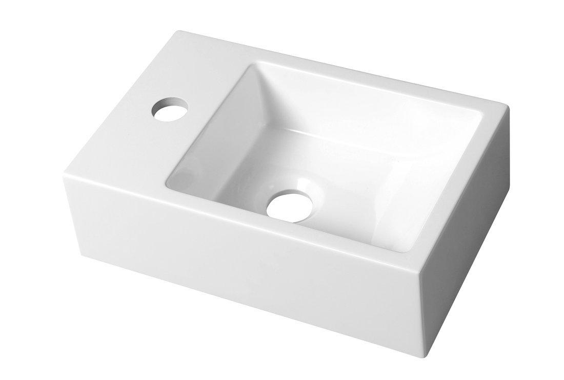 ALABAMA umývátko 36x11x23cm, litý mramor, levé, bílá