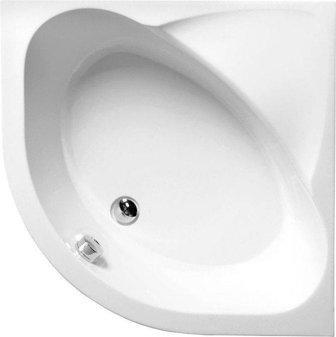 SELMA hluboká sprchová vanička, čtvrtkruh s konstrukcí 90x90x30cm, R550, bílá