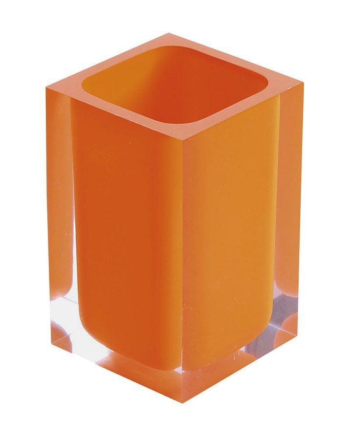 RAINBOW sklenka na postavení, oranžová