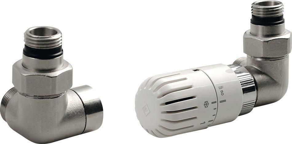 ECO připojovací sada termostatická PRAVÁ, nikl/bílá