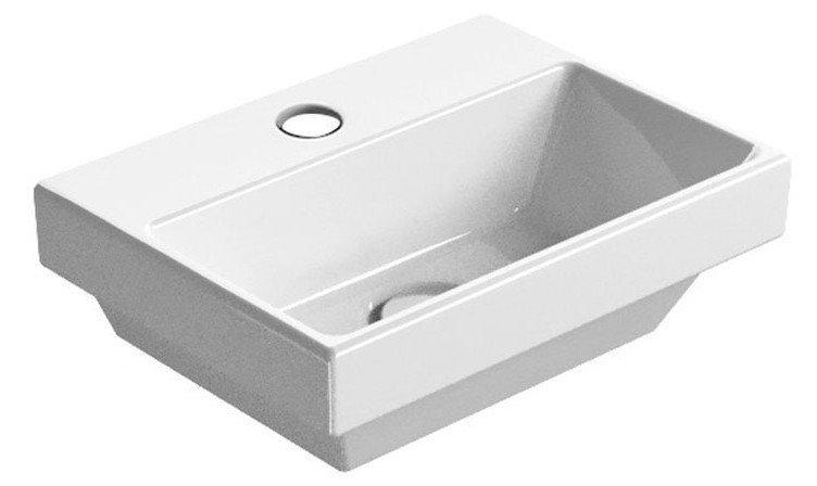 NORM umývátko s otvorem, 35x12x26 cm, bílá ExtraGlaze