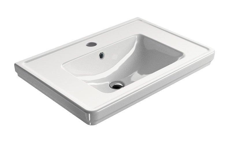 CLASSIC keramické umyvadlo 75x50 cm, bílá ExtraGlaze