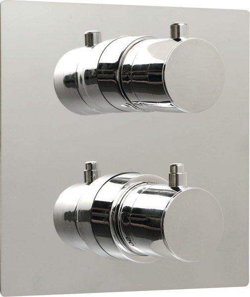 RHAPSODY podomítková sprchová termostatická baterie, hr. deska, 2 výstupy, chrom