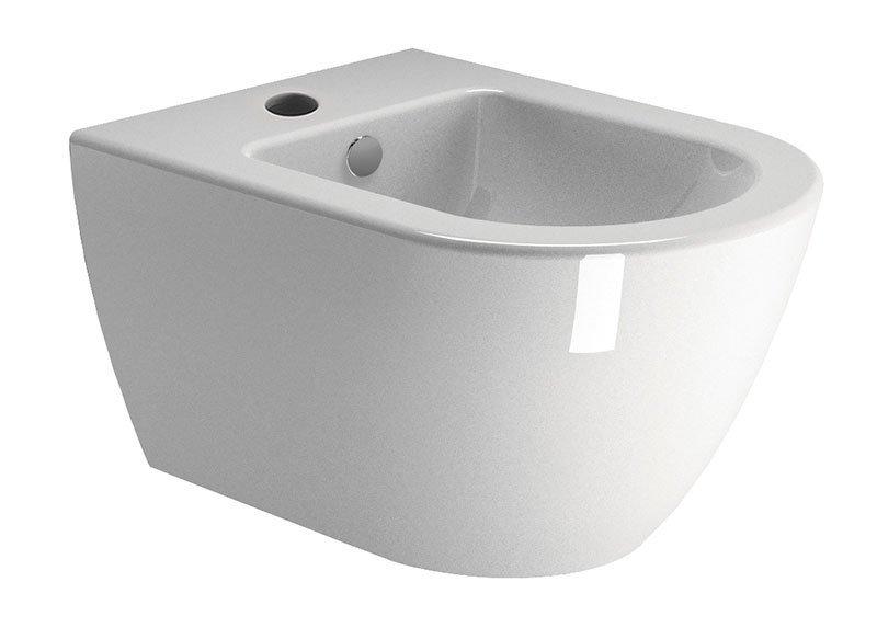 PURA bidet závěsný, 50x36 cm, bílá ExtraGlaze