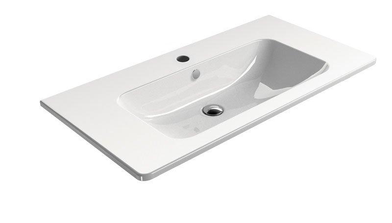 PURA keramické umyvadlo 100x50 cm, bílá ExtraGlaze
