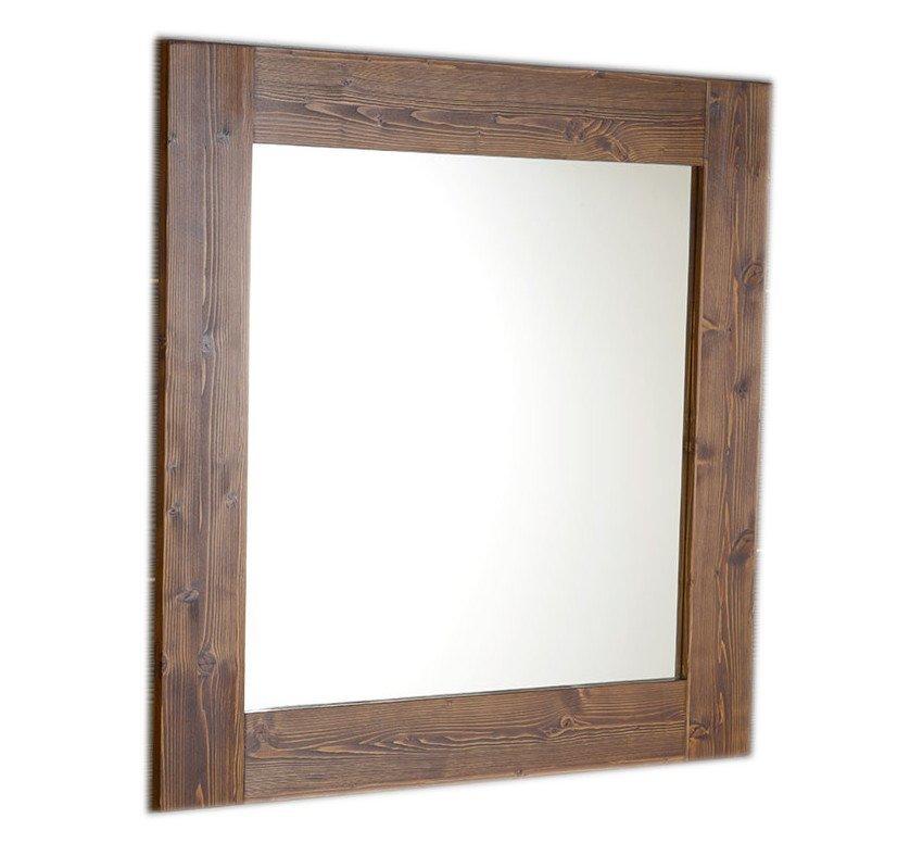 BRAND zrcadlo 800x800x20mm, mořený smrk