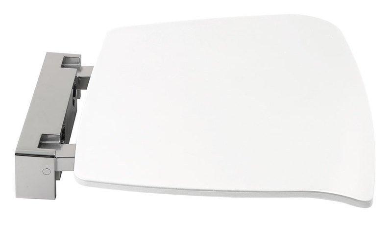 Sklopné sedátko do sprchového koutu 37x38cm, bílá