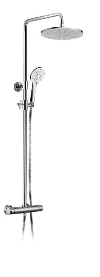 KIMURA sprchový sloup s termostatickou baterií, chrom