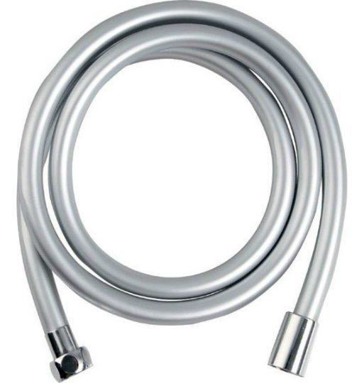 SOFTFLEX hladká sprchová plastová hadice, 200cm, metalická stříbrná/chrom