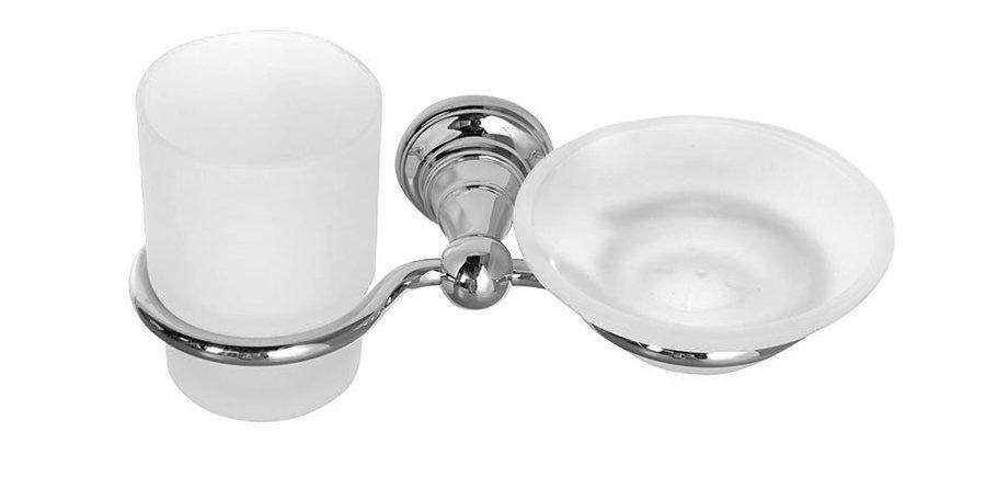 DIAMOND mýdlenka, sklenka, chrom