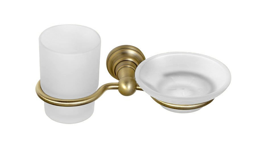DIAMOND mýdlenka, sklenka, bronz