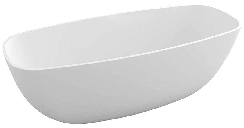 IPANEMA volně stojící vana litý mramor 168x72x49cm, bílá