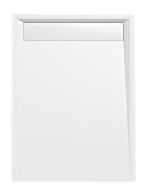 VARESA sprchová vanička z litého mramoru se záklopem, obdélník 120x90x4cm, bílá