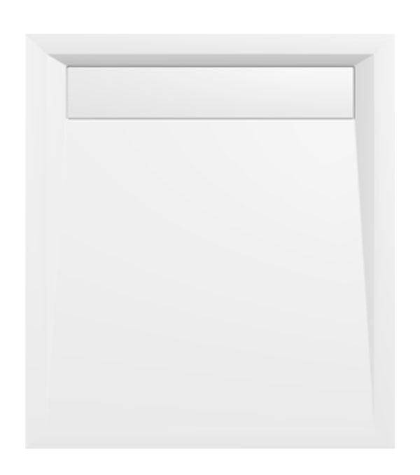 VARESA sprchová vanička z litého mramoru se záklopem, obdélník 90x80x4cm, bílá