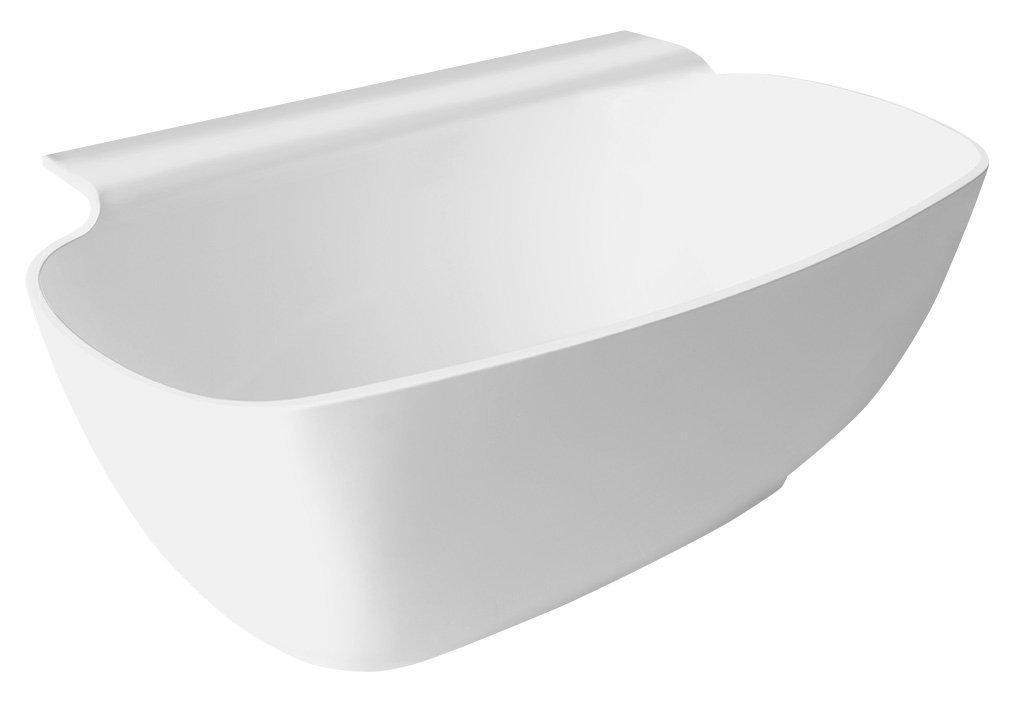NIGRA volně stojící vana litý mramor 158x80x45cm, bílá