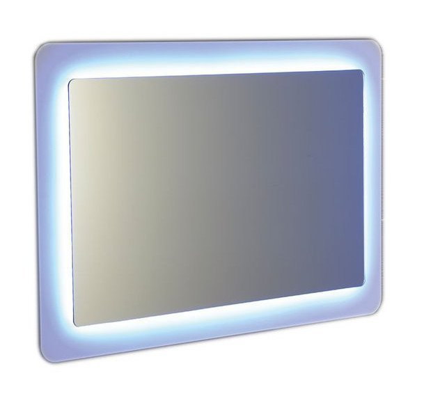 LORDE LED podsvícené zrcadlo s přesahem 900x600mm, bílá