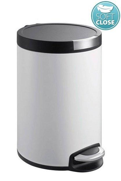 ARTISTIC odpadkový koš 5l, Soft Close, bílá