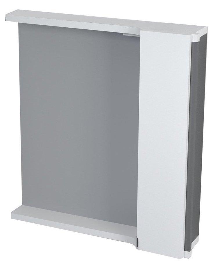 PULSE galerka s LED osvětlením 2 x 3W, 75x80x17 cm, pravá, bílá/antracit (PU078P)