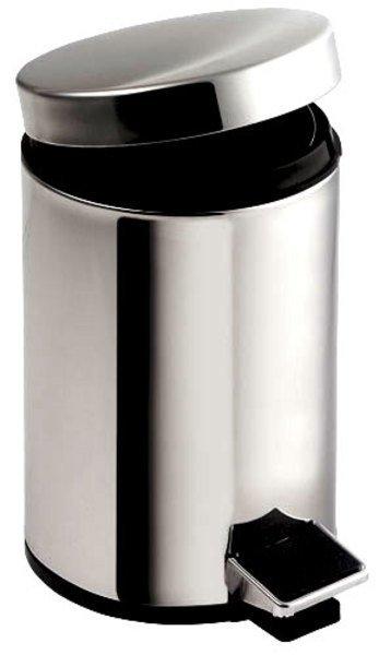 SIMPLE LINE odpadkový koš kulatý 5l, leštěný nerez